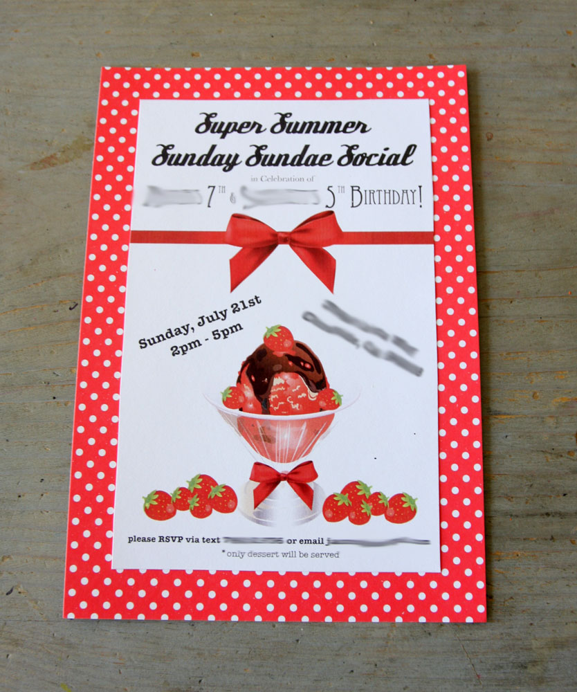 Super Summer Sunday Sundae Social – Birthday Party – Rustic Red Fence